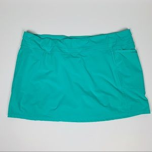 Athleta Turquoise Tennis / Golf Skirt, 2X